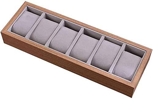 Hecho de Madera Caja de Reloj Caja de Reloj Caja de Almacenamiento Forro Interior de Terciopelo Organizador de Joyas Ideal para Guardar dormitorios en el Armario