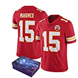 NQH Mahomes Rugby Jersey Rugby Shirt, Mahomes 87# Chiefs Rugby Training Shirts, Convient pour Divers Sports Summer Short Sleeves (s-3xl)-Red-S
