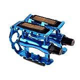 Venta Caliente Bicicleta De Montaña Pedal De Bicicleta Ciclismo Bicicleta De Carretera Pedales Ultralight Pedales De Aleación De Aluminio Pedal 4 Colores MTB Accesorios (Color : Blue)