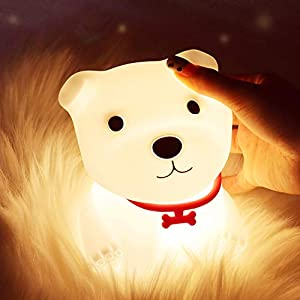 crib bedding and baby bedding dog night light for kids, toddler, baby, nursery, labrador lights with remote, usb rechargeable, portable, color changing, bedroom puppy nightlight for children, teen girls boys birthday gifts
