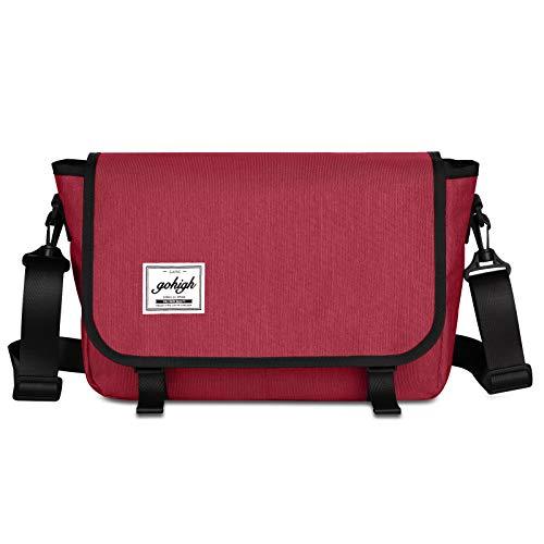 LiDCH Messenger Bag voor vrouwen schoudertassen voor mannen Slant Straddle Computer Canvas Schouder Cross-body tas voor werk School