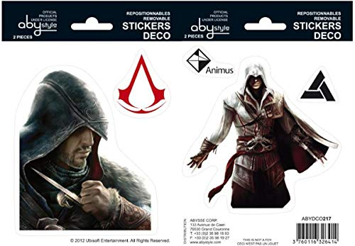 Assassin's Creed - Ezio & Altaïr Stickers 16X11Cm X2 (Abydco217)