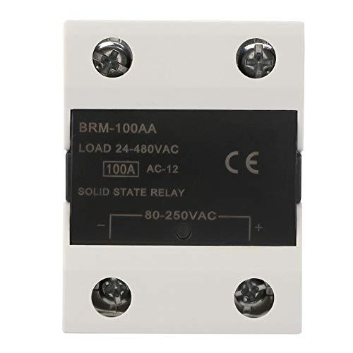 Módulo de relé de estado sólido de carga SSR Dispositivo de interruptor de control de maquinaria eléctrica 24-480VAC 60AA/80AA/100AA/120AA(BRM-100AA)