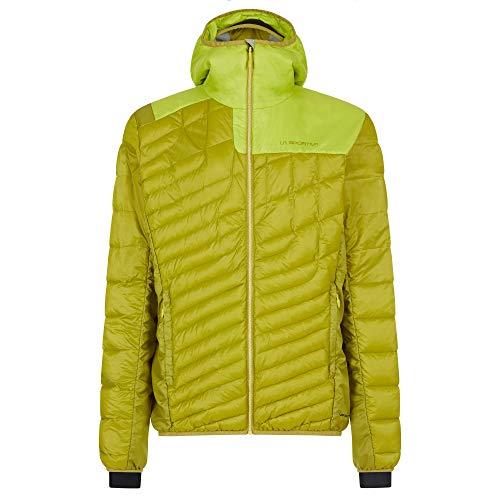 LA SPORTIVA M Phase Down Jacket Colorblock-Gelb-Grün, Herren Daunen Winterjacke, Größe XL - Farbe Kiwi - Citrus