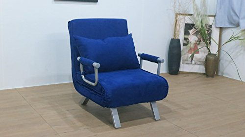 ITALFROM Divano Letto Sofa Bed Blu 67x69x83h DIVANETTI Divano Letto 1 Piazza