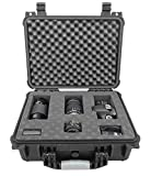 CASEMATIX 16 inch Waterproof Camera Bag Case Compatible with Canon DSLR Camera 90D, 80D, Rebel SL3, 6D Mark, 5D Mark, 1300D, T7i, T6 Camera Body, Lens, Flash and Accessories, Case Only