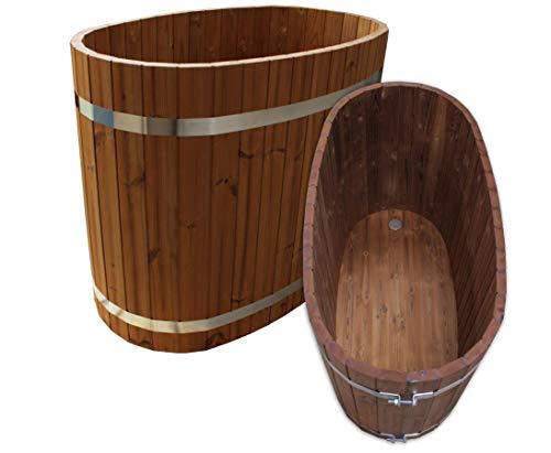 bambus-discount.com Badezuber aus Holz, Set1 - für Holzbadefass Badefässer Badefass für draussen Badetonne Hot Tube Badebottich Holzbadewanne