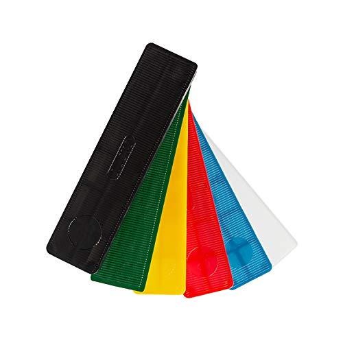 SILISTO Kunststoff Verglasungsklötze Set mehrfarbig 100 x 24 x 1-6 mm, 600 Stück - Made in Germany
