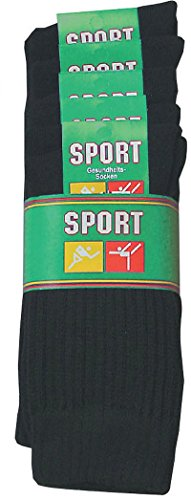 socksPur SOCKS PUR TENNISSOCKEN- KOM Komfortbündchen 5er PACK (47-50, 6927: Tennissocken mit Komfortbündchen schwarz uni)
