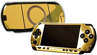 Gold Chrome Mirror Vinyl Decal Faceplate Mod Skin Kit for Sony PlayStation Portable 1000 (PSP) Console by System Skins