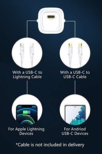 mcdodo 20W USB C Ladegerät, Power Delivery PD 3.0 USB-C Netzteil Schnellladegerät kompatibel für iPhone 12/12 Mini/12 Pro/12 Pro Max, iPad Pro 2020, iPad Air 4, Airpods Pro, usw