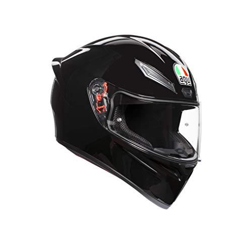 AGV 0281A4I0_002_ML K1 Solid Casco Moto Integral, Negro, ML