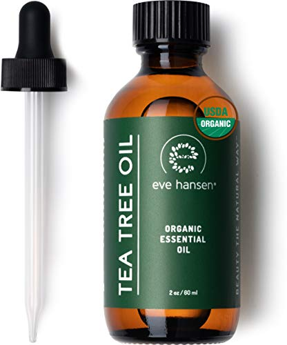 Eve Hansen Organic Tea Tree Essential Oil (2oz) | 100% Melaleuca Alternifolia Pure Tea Tree Oil for Skin, Scalp, Nails, Cuticles, Aromatherapy Diffusers, Household and DIY Uses