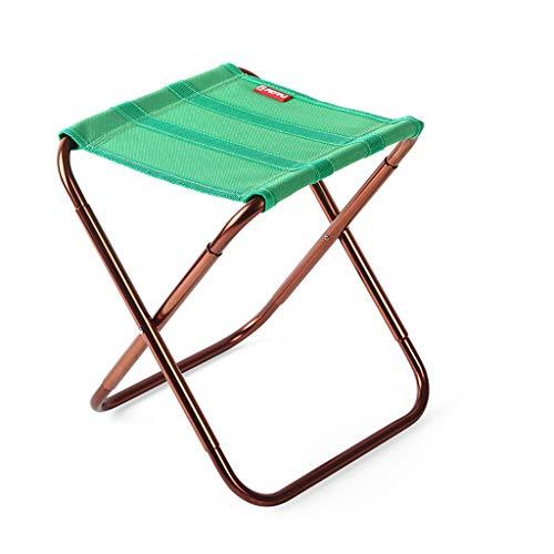 SMBYLL Chaise Pliante d'extérieur Portable, matériau Ultra-léger pour Un Rangement Facile, Peut être utilisée comme Banc à Chaussures, Noir et Vert Chaise Pliante (Color : Green)