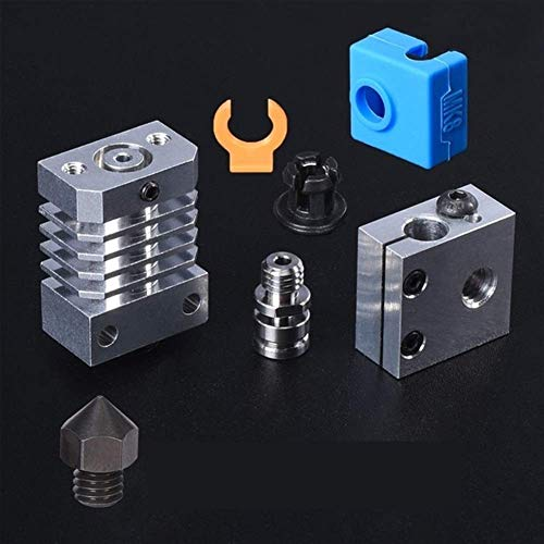 Printer Accessories Heatsink All Metal Radiator Pipe Upgrade Hotend Kit for 3D Printer Ender3 CR10 Hot End Micro Swiss Titanium Heat Breaker Extruders Components (Color : All CR10 Kits)
