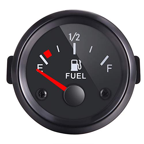 Rupse 2' 52mm Universal Car SUV Fuel Level Gauge Meter E-1/2-F Pointer 12V