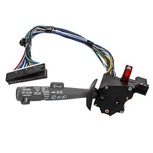 Multi-Function Combination Switch Assembly Replacement for Chevy Tahoe, Blazer, Suburban, K1500, Sierra, Replace# 2330814 26100985 26036312, Turn Signal, Wiper, Washers, Hazard Switch, Cruise Control