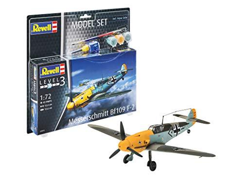 Revell REV-63893 Model Set Messerschmitt Bf109 F Modellbausatz + Zubehör, Mehrfarbig, 1:72
