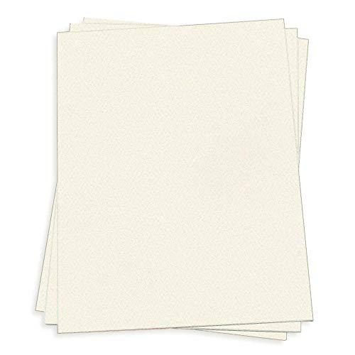 Warm Cream Paper - 8 1/2 x 11 LCI Felt 70lb Text, 25 Pack