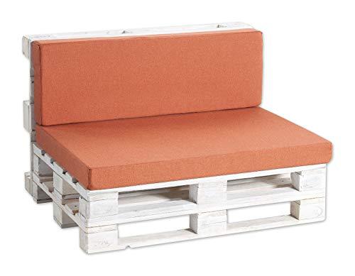 Palettenkissen Palettenauflagen Sitzkissen, Rückenkissen PF (Eckkissen 60x40, Orange)