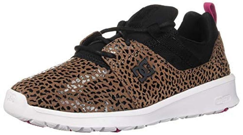 胚絶望おしゃれなDC Women's Heathrow SE Skate Shoe Cheetah Print 7.5 Medium US [並行輸入品]