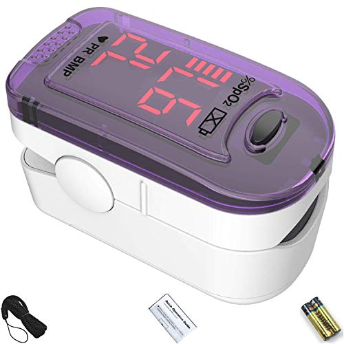 Best Price! CHOICEMMED Purple Finger Pulse Oximeter - Blood Oxygen Saturation Monitor - SPO2 Pulse O...