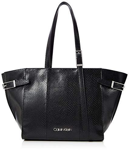 Calvin Klein Winged Med Shopper - Borse Tote Donna, Nero (Black),...