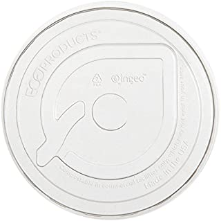 Eco-Products EPFLCC GreenStripe Renewable & Compost Cold Cup Flat Lids, F/9-24oz, 100 per Pack (Case of 10 Packs)