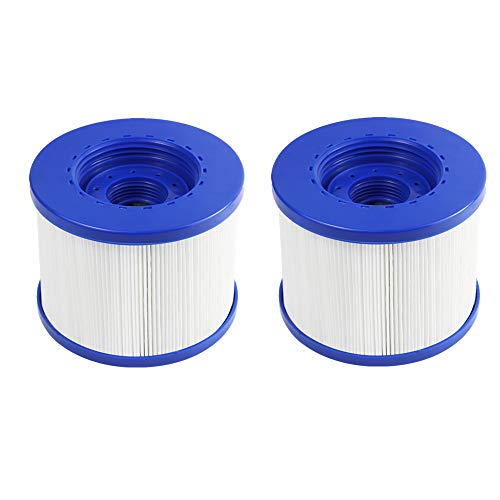 """Bemaxy Pool Filter Replacement Cartridge for Wave Spa, Inflatable Winter Swimming Hot Tub Filter Accessories, 4""""x4""""x3.2"""" (2Pcs)"""