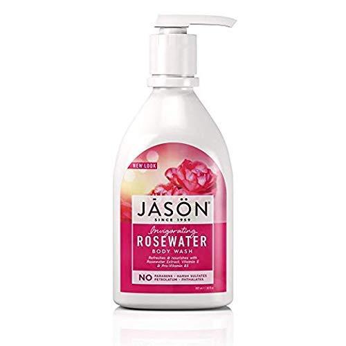 Jason Natural Body Wash & Shower Gel, Invigorating Rosewater, 30 Oz