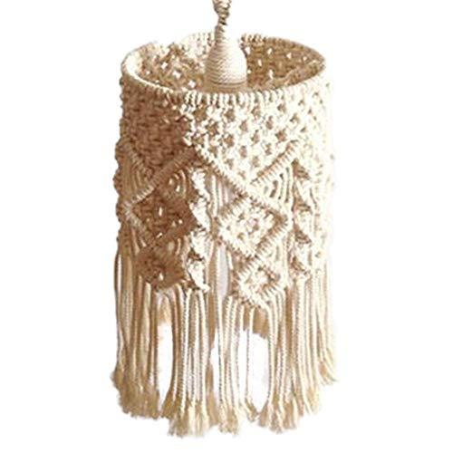 Lampenkap Boheemse stijl handgeweven decoratieve kroonluchter lantaarn schaduw geschikt voor woonkamer slaapkamer babykamer wanddecoratie
