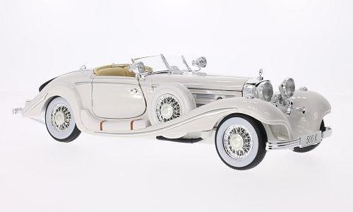 Mercedes 500 K Typ Spezial-Roadster, weiss, Maharadjah, 1936, Modellauto, Fertigmodell, Maisto 1:18