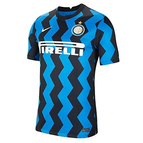 Nike INTER M NK BRT STAD JSY SS HM, T-shirt Uomo, blue spark/(white) (full sponsor), L