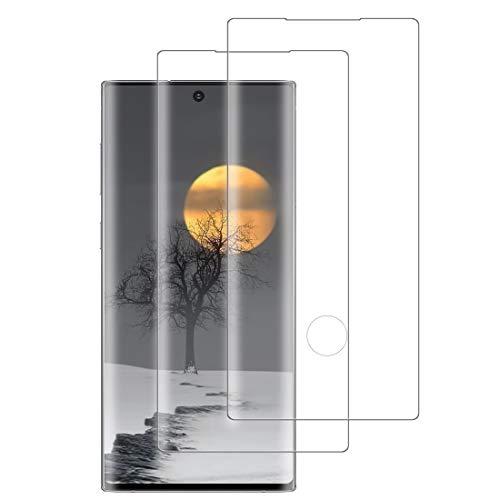XSWO [2 Stück Galaxy Note 10 Panzerglas Schutzfolie, Gehärtetes Glas Bildschirmschutzfolie 3D Vollständige Abdeckung 9H Festigkeit Bläschenfrei Kratzfeste Ultraklar Superdünn Glas Folie für Galaxy Note 10