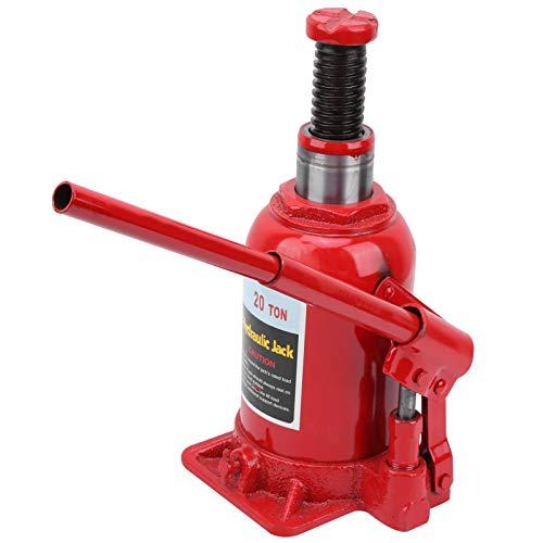 lyrlody Cric Bouteille Hydraulique 20T Cric Hydraulique Cric Hydraulique Voiture Durable Pratique pour Levage de Voiture Opération Simple Rouge
