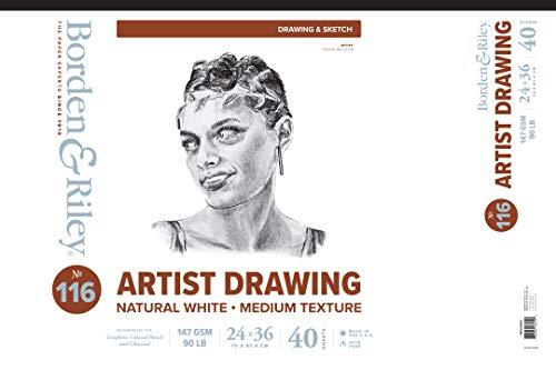 Borden & Riley #116 Artist Drawing/Sketch Vellum Pad, 24