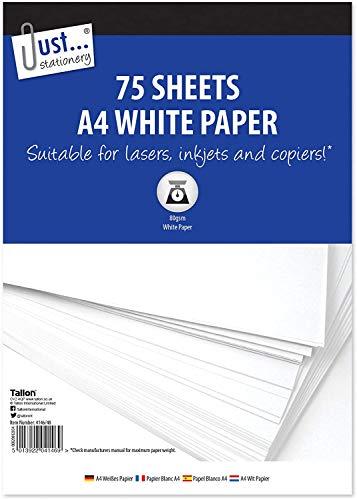 Just Stationery 4146/48 - Papel de copia (75 hojas, tamaño A4), color blanco