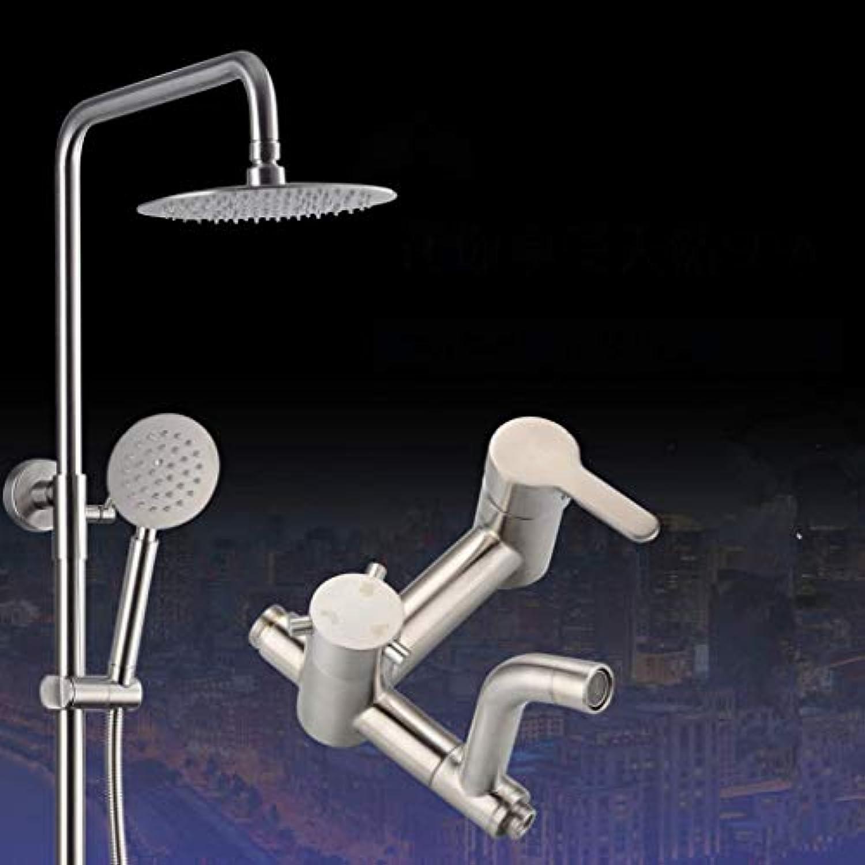 GWFVA Bad Dusche Mischerset, Duschset Edelstahl Dusche Bad Dusche Regen Schlank Bad Wandhalterung Lift Booster Kühler