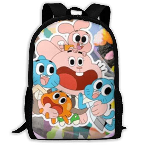 MUUQ The Amazing World of Gumball Mochila de Viaje Mochilas Escolares para niños Estampadas