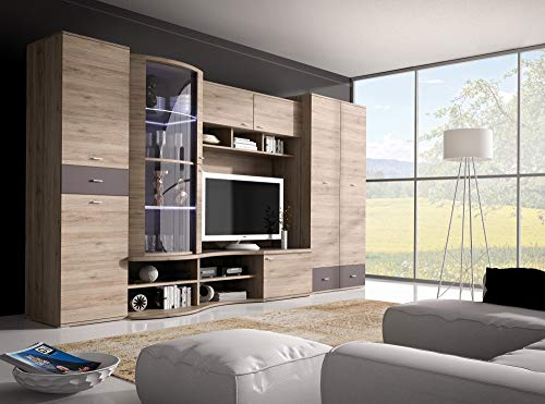 Classic design Living room furniture set, GRENADA TV unit, wardrobe, glass cabinet with LED Lights