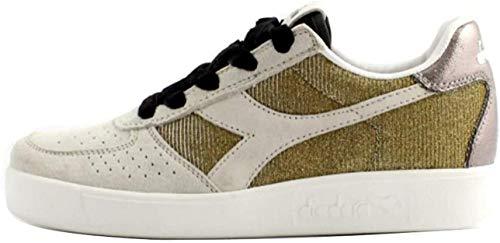 Diadora B.Elite Wn Premium Donna, Pelle Liscia, Sneaker Bassa, 4 EU