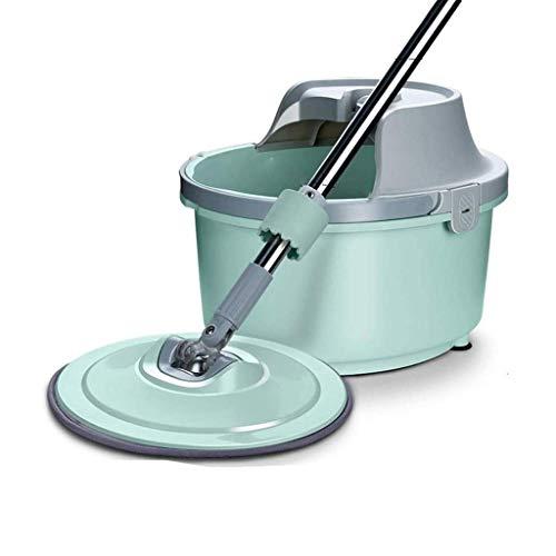 Manos libres de lavado giratorio plana fregona perezosa redonda plana fregona solo cubo hogar una fregona un solo cubo perezoso fregona