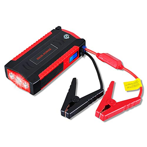 JieDianKeJi Auto-Starthilfe 12v Super Power Bank Autostart-Batterie Lithium-Polymer-StartgeräT Booster-ÜBerbrüCkungskabel Buster-Led