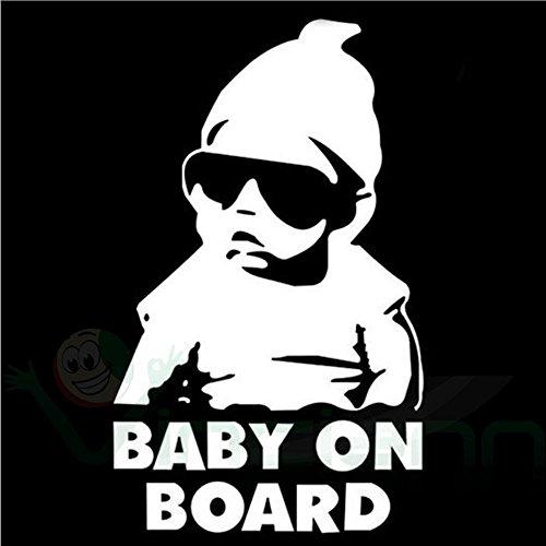Adesivo sticker Baby on Board bambino bimbo a bordo decalcomania auto tuning WT