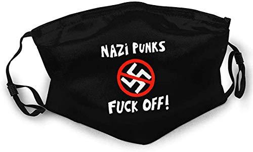Twifon Cloth Face Mask Washable Nazi Punks Fuck Off! Anti Filter Dust Fabric Mouth Mask Reusable Custom