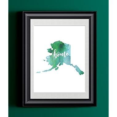 Alaska Home Watercolor Print | State Home Poster | Wall Decor