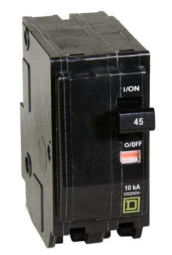Square D by Schneider Electric QO245CP QO 45 Amp Interruptor de circuito de dos polos