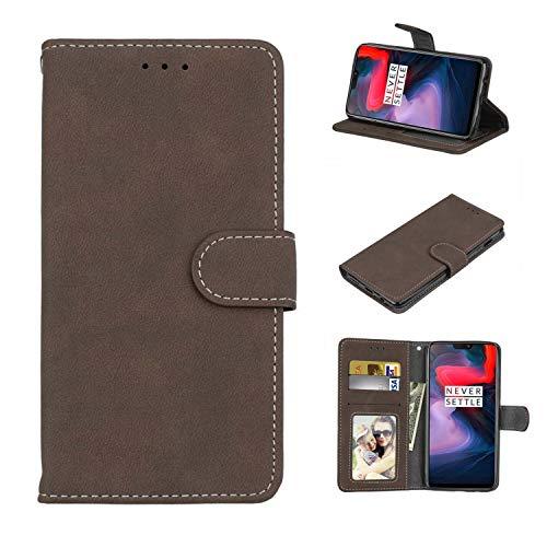 Cofola Cover per Huawei Ascend Y550, Retro Frosted Custodia in Pelle Basamento Protettiva Case Cover per Huawei Ascend Y550 [Marrone]