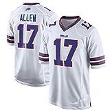 Color Polyester Rendimiento Player Player Nombre y número Camiseta Jersey para Bill's Children's Wear # 17 Allen White-S
