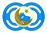MAM Perfect Night Dream Traveler ZEDMM071M Ciuccio Luminoso in Silicone con Custodia Porta Ciuccio, 6+ mesi, Blu